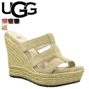 ★ 38% ★ UGG UGG women's tawny wedge Sandals 100404 TAWNIE WOMENS suede women's adhesive