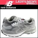 New Balance new balance W990GL3 Made in USA Lady's men sneakers B Wise suede X mesh suede cloth
