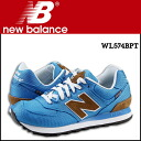 New balance new balance WL574BPT Womens mens sneakers B wise canvas