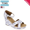 TOMS SHOES Toms shoes sustainable strap wedge sole ladies Sandals 024026B Women's Sustainable Strappy Wedges cotton 2013 new Toms Toms shoes