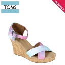 TOMS SHOES Toms shoes with wedge sole Womens Sandals 1000077 Tye Dye Women's Strappy Wedges cotton 2013 new Toms Toms shoes