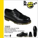 Dr. Martens 3989 Dr.Martens 5 Hall wing tip shoes HESTON leather men's R14870001 black [9 / 3 back in stock] [regular] 02P01Nov14