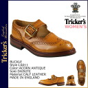Trickers Tricker's buckle ダイナイトソール buckle ballet shoes L6011 BUCKLE 4 wise calf leather Made In ENGLAND Trickers wing tips