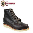 Point 2 x Chippewa CHIPPEWA 6-inch mock to wedge boots [cordovan] 1901M20 6INCH MOC TOE WEDGE E wise leather mens BOOTS [regular] 05P11Jan14