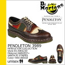 Points 2 x Dr. Martens Dr.Martens Pendleton R13985230 5 Hall wing tip shoes [tan / beige] PENDLETON 3989 leather mens Womens unisex [1 / 14 new stock] [regular] ★ ★