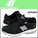 New Balance new balance KJ990CPG kids Lady's sneakers M Wise suede X mesh suede cloth black