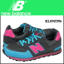 Point 2 x new balance new balance KL574TPG kids women's sneakers M wise suede x multi suede with mesh [1 / 14 new in stock] [regular] ★ ★ 05P11Jan14
