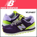 New Balance new balance Lady's WL574BFF sneakers B Wise suede X mesh suede cloth purple [1/20 Shinnyu load] [regular]★★