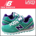 «Reservation products» «2 / 13 when I will be in stock» new balance new balance women's WL574SJT sneaker B wise suede x mesh suede green [2 / 13 new stock] [regular] ★ ★