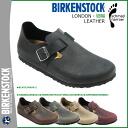 Point 2 x Birkenstock-BIRKENSTOCK LONDON [narrow width leather, 5 color mens Womens unisex slip-on [3 / 15 new in stock] [regular] 2P05Apr14M