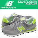 New Balance new balance kids Lady's KL574LGY sneakers M Wise suede X mesh suede cloth gray [4/22 Shinnyu load] [regular]★★