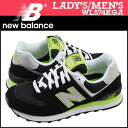 New Balance new balance Lady's WL574KGA sneakers B Wise suede X mesh suede cloth ink [4/22 Shinnyu load] [regular]★★