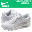 90 90 307,793-111 nike NIKE Lady's AIR MAX GS sneakers Air Max leather Air Max white [3/31 Shinnyu loads] [regular]