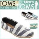 TOMS SHOES Thoms shoes men STRIPE MEN'S CANVAS CLASSICS [2 colors] stripe canvas classical music cotton slip-ons Tom's Thoms shoes [4/9 Shinnyu load] [regular] fs04gm 05P06May14