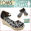 TOMS SHOES Thoms shoes Lady's wedge sandals WOVEN VEGAN WOMEN'S PLATFORM WEDGES ウーブンベガンプラットフォームコットントムストムズシューズ 2014 latest black wedge sole [regular]