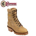 Chippewa CHIPPEWA work boots 9 inch 25415 9INCH GOLDEN TAN WATERPROOF E wise leather men's Golden Apache