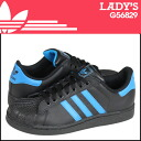 Adidas originals adidas Originals Women's SUPERSTAR 2 J sneaker Super Star 2 girls leather kids ' Junior kids GIRLS G56829 black × blue [10 / 31 new in stock] [regular]