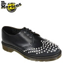 Dr. Martens Dr.Martens Edison studs 3 Hall shoes EDISON STUDDED 3 EYELET SHOE leather mens Womens dress shoes R15394410 Navy unisex [10 / 31 new in stock] [regular]