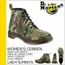 Dr. Martens Dr、Martens ladies 6-hole boots WOMEN's CERREN 6 EYE BOOT canvas men's lace-up boots R16149310 green [10 / 24 new in stock] [regular] ★ ★ 02P01Nov14