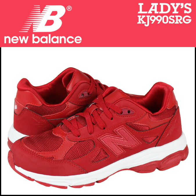 SneaK Online Shop | Rakuten Global Market: New balance new balance women\u0026#39;s KJ990SRG sneaker M wise suede / mesh kids \u0026#39; Junior kids Red [1 / 6 new in stock] ...