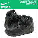 Nike NIKE baby kids ' AIR FORCE 1 MID TD sneakers air force 1 mid toddler leather junior kids BABY TODDLER 314197-004 black [12 / 26 new stock] [regular] ★ ★