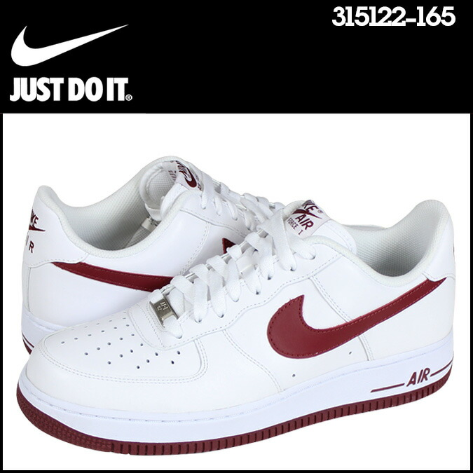 Nike NIKE AIR FORCE 1 LOW 07 sneakers air force 1 low 07 leather men\u0026#39;s Airforce 315122-165 WHITE/TEAM RED white [genuine]