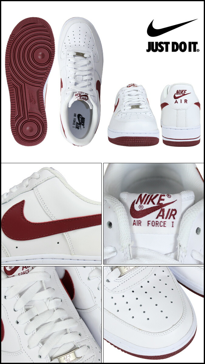 NIKE /�� AIR FORCE 1 LOW 07 ��. Upper color: white��teyam RED