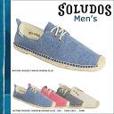 Solids SOLUDOS espadrille men's shoe Derby lace-up DERBY LACE-UP canvas linen MLA 4 colors [4 / 15 new stock] [regular] ★ ★
