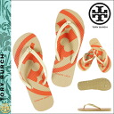 Tory Burch TORY BURCH Womens flip flop Beach Sandals 90008765 Italian khaki FLIP FLOP [5 / 26 new stock] [regular] ★ ★