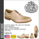 Wolverine WOLVERINE harass wing tip lace-up Oxford Shoes HORACE WING TIP LACE UP OXFORD M wise leather mens W00457 taupe / Brown [10 / 31 new stock] [regular]