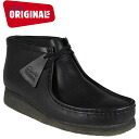 Clarks originals Clarks ORIGINALS boots Wallaby 35401 WALLABE BOOT leather crepe sole men's BLACK
