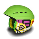 100,355-13 BRIKO( yellowtail co-) BOOM EVO Snow helmet men gap Dis F403(MATT GREEN MULTICOLOUR)