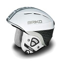 100,630-13 BRIKO( yellowtail co-) FLUID X Snow helmet men gap Dis F171(MATT WHITE-CARBON)