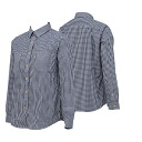 ONYONE (on) insect shield ladies ' long-sleeved t-shirts gingham women's ODJ87615 699 (Navy)