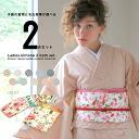 Kimono プレタ kimono fine pattern wound beauty garden original cotton kimono is tailored in washable kimono set (unlined clothes kimono & Nagoya style sash) summer