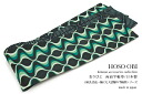 OBI for Komon for tsumugi brand tips of how to Roman black psychedelic reversible yukata belt 半巾 belt Japan made