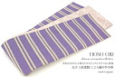 Violet しじら woven stripe half width zone narrow obi zone for summer clothes things for fine patterns for half-breadth sash yukatas