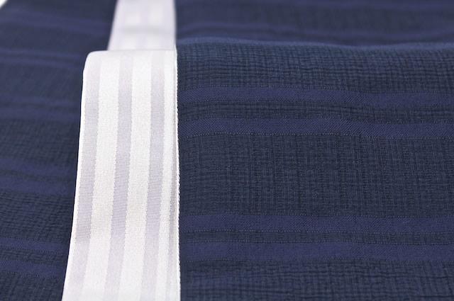 浴衣にオススメな藍・紺のしじら織り半幅帯