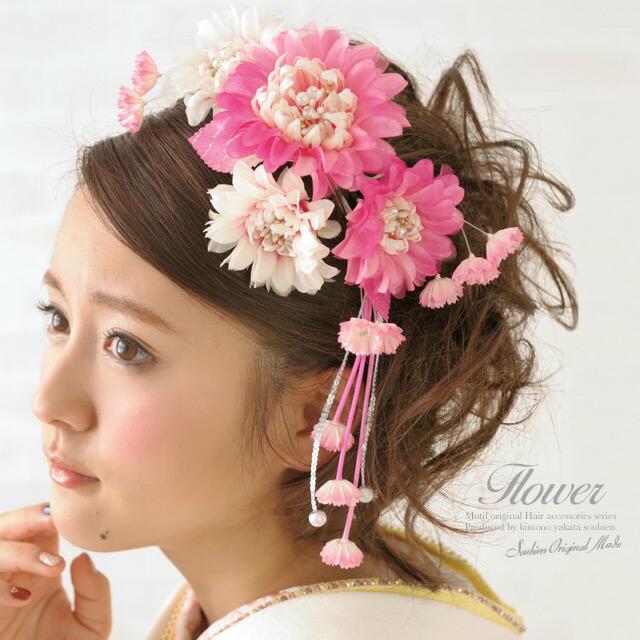 お花の髪飾り2点セット(モデル:水野佐彩ちゃん)