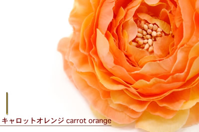 Hair ornament, wound beauty garden original ヘアアクセ corsage orange