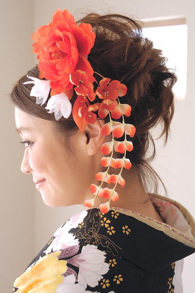 成人式の振袖や卒業式の袴、結婚式の着物などにおすすめな髪飾り2点セット