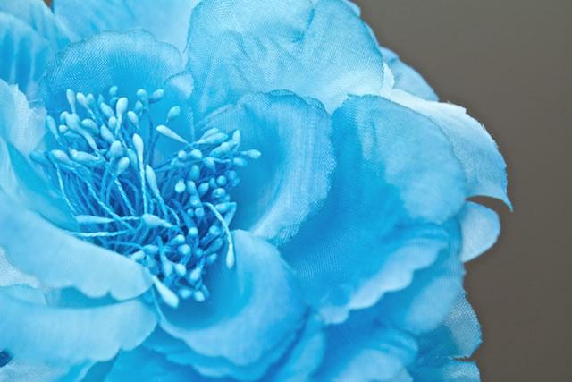 饰品/ 浴衣的插花蓝牡丹劈开胸罩带夏季浴衣发夹头发花发饰图片