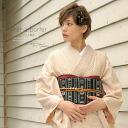 Pret clothes lined bright yellow tea yellow Kanoko pattern eyes result Komon established kimono Kobo tailoring up size M L