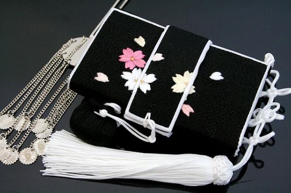 はこせこ,筥迫,振袖,打掛,結婚式,成人式,黒,白,桜,鳳凰,婚礼