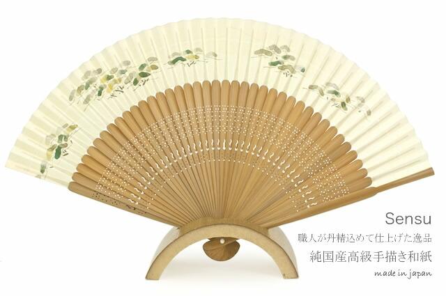 純国産和紙を使用した高級手描き扇子