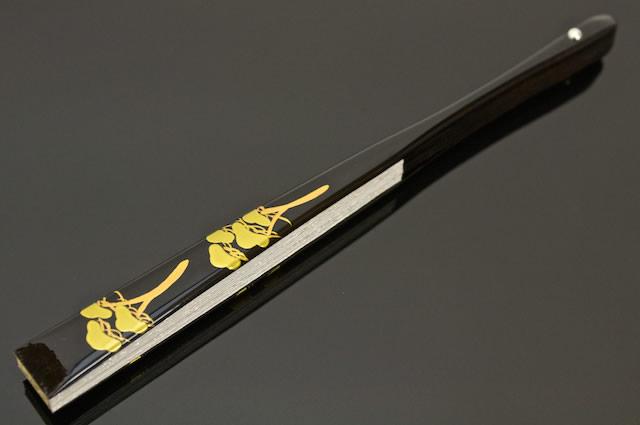 金銀リバーシブルの高級手描き金彩蒔絵扇子