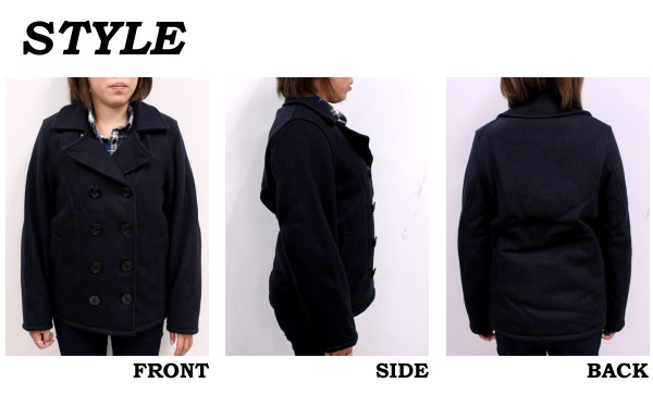 ����󥽥� ������� �ߥ륺 JHONSON WOOLEN MILLS ������ P������ ���� ���㥱�å� �������� TRADITIONAL PEA COAT �ͥ��ӡ� �֥�å� ��ǥ����� (SPC73)