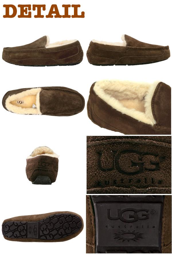 アグ オーストラリア UGG Australia Ascot ムートン モカシンシューズ アスコット スリッポン フラットシューズ モック ボア ファー ムートンブーツ スエード ugg メンズ (5775)