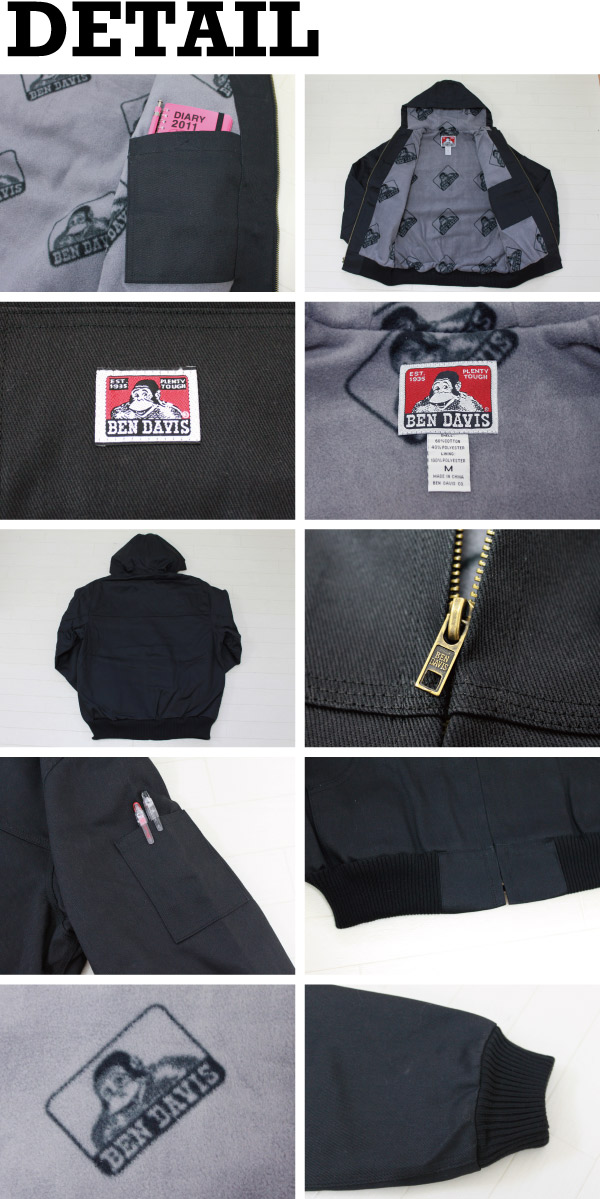 �٥�ǥ��ӥ� BEN DAVIS HOODED JACKET �? �ե꡼�� �ա��ɥ��㥱�å� ������ �������� (344)