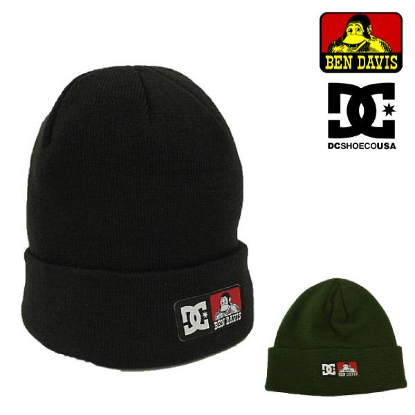 ディーシーシューズ DC SHOES ベンデイビス BEN DAVIS コラボ ニットキャップ DC×BD BEANIE ビーニー ワッチキャップ ニット帽 ブラック メンズ レディース (ADYHA03213)